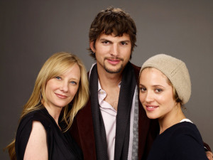 Anne Heche with Ashton Kutcher and Margarita Levieva for Spread Film portrait at the Film Lounge Media Center during the 2009 Sundance Film Festival on January 18th 2009 in Park City Utah 2