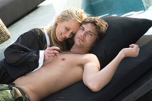 Ashton Kutcher picture with Anne Heche from Spread Movie