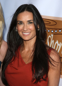 Demi Moore picture wearing a sleevless red dress at the 5th Annual HollyShorts 2009 Opening Night Celebration held at the Directors Guild of America on August 6th 2009 in Los Angeles