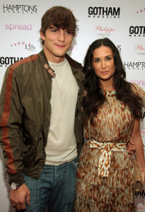 Ashton Kutcher and his wife Demi Moore at the special screening of Spread movie on August 8th, 2009