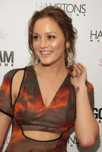 Leighton Meester at the special screening of Spread movie on August 8th, 2009