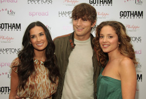 Margarita Levieva with Ashton Kutcher and Demi Moore at the special screening of Spread movie on August 8th, 2009