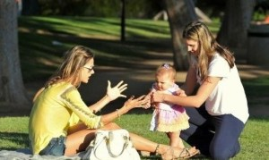Alessandra Ambrosio spotted playing with her little daughter Anja Louise at a park in Santa Monica on July 7th 2009 7