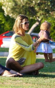 Alessandra Ambrosio spotted playing with her little daughter Anja Louise at a park in Santa Monica on July 7th 2009 8