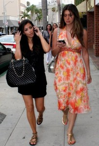 Kim Kardashian picture with Brittny Gastineau visiting the salon in Beverly Hills on August 3rd 2009 3