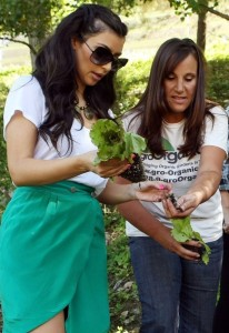 Kim Kardashian picture as she plants a vegetable garden on August  6th 2009 1