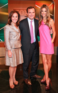 Alessandra Ambrosio appears at Good Day New York wearing a sweet mini pink dress in FOX Studios on August 11th 2009 1