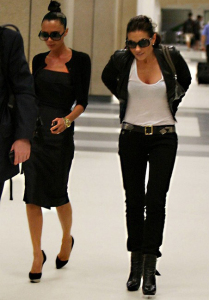 Victoria Beckham spotted with Kara DioGuardi as they arrive At LAX airport August 2009 5