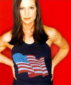 Terry Farrell America flag