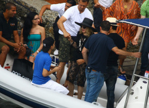 Madonna and Jesus Luz photo as they were about to get on to a boat on August 17th 2009 1