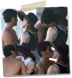 Madonna and Jesus Luz photo kissing in Italy on August 17th 2009 2