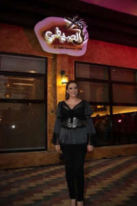 Amal Hijazi at her new resturant opening party in August 2009 1