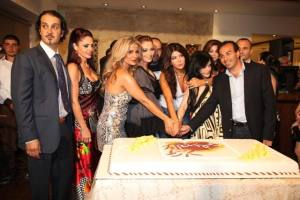 Amal Hijazi at her new resturant opening party in August 2009 4
