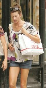 Jill McCormick seen wearing a mini denim shorts in New York City on July 20th 2007