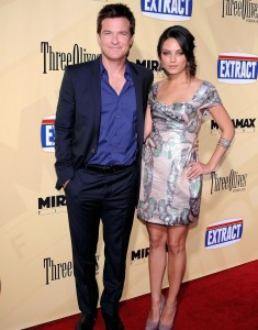 Mila Kunis with Jason Bateman at the premiere of their new movie Extract held at ArcLight Hollywood on August 24th 2009 in Los Angeles 4
