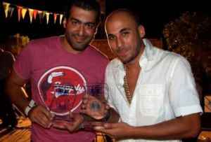 Mazen Diab and Mohamad Qwaider picture at the concert held at SOS village in Amman Jordan in August 2009
