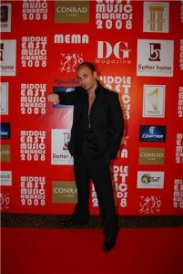 Mohamad Qwaider picture at a public awards event arriving on the red carpet