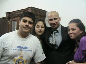 Mohamad Qwaider personal photo with his friends