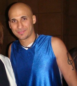 Mohamad Qwaider personal photo wearing a blue shint tshirt