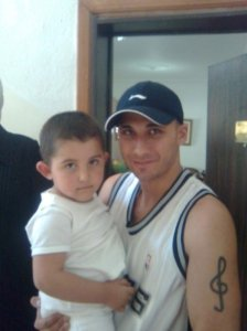 Mohamad Qwaider personal photo with a small boy