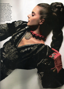 Alessandra Ambrosio photo shoot of Vogue Mexico 2006 issue 2