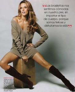 Alessandra Ambrosio photo shoot of the september 2009 issue of Vogue magazine