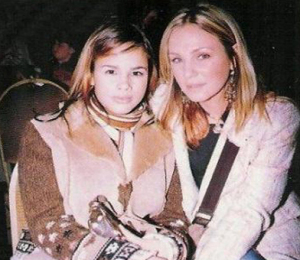 Amr Diab picture of his daughter Noor Anr Diab with her mother at a celebrities event