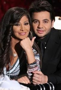 Nishan Deirharoutinian with lebanese singer Elissa