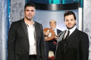 Nishan Deirharoutinian with Fares Karam on Il Maestro TV talk show on September 7th 2009 3