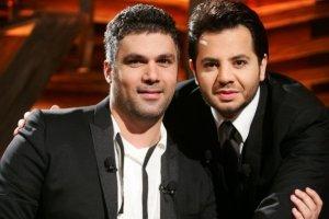 Nishan Deirharoutinian with Fares Karam on Il Maestro TV talk show on September 7th 2009 4