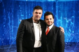 Nishan Deirharoutinian with Fares Karam on Il Maestro TV talk show on September 7th 2009 2