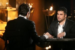 Nishan Deirharoutinian with Fares Karam on Il Maestro TV talk show on September 7th 2009 1