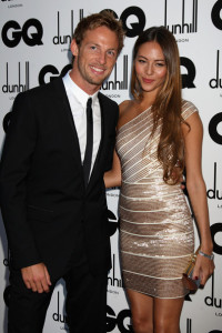 Jenson Button and Jessica Michibata arrives at the red carpet of 2009 GQ Men Of The Year Awards on September 8th, 2009