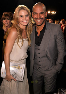 Jennifer Morrison and Shemar Moore at the 15th Annual Screen Actors Guild Awards held at the Shrine Auditorium on January 25th 2009 in Los Angeles California 1