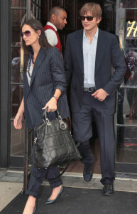 picture of Demi Moore and her husband Ashton Kutcher as they leave their hotel on September 10th 2009 2