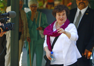 Susan Boyle pictures as she arrives at the Hotel Be Air yesterday on September 12th 2009 5