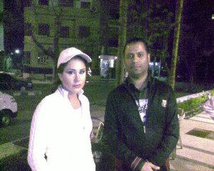 Dima Qandalaft on the filming set