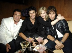 Madonna and Jesus Luz picture inside the Boom Boom Room during the Fashion Week launch at the Standard Hotel in New York on September 13th, 2009