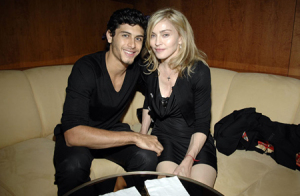 Madonna and Jesus Luz photo inside the Boom Boom Room as they attend the Fashion Week launch at the Standard Hotel in New York on September 13th 2009