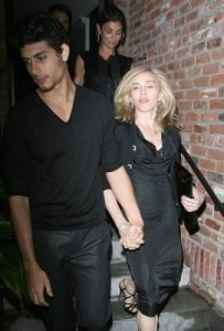 photo of Madonna and Jesus Luz hand in hand as they arrive at the Boom Boom Room Fashion Week launch held at the Standard Hotel in New York on September 13th 2009 4