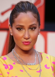 Adrienne Bailon arrives at the 2009 MTV Video Music Awards at Radio City Music Hall on September 13th 2009 in New York City 1