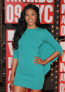 Singer Amerie arrives at the 2009 MTV Video Music Awards at Radio City Music Hall on September 13th 2009 in New York City