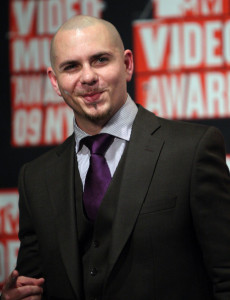 Pitbull arrives at the 2009 MTV Video Music Awards at Radio City Music Hall on September 13th 2009 in New York City