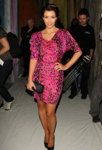 Kim Kardashian picture at the Tracy Reese Spring 2010 Fashion Show September 14th 2009 2