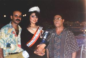 Haifa Wahbi old picture as miss lebanon