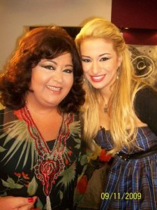Rym Ghazali picture from Alo Meen on September 11th 2009 with Lebanese actress Lilian