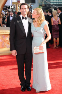 Jennifer Westfeldt and Jon Hamm arrive at the 61st Primetime Emmy Awards held at the Nokia Theatre on September 20th 2009 in Los Angeles