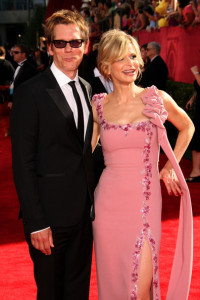 Kevin Bacon and Kyra Sedgwick arrive at the 61st Primetime Emmy Awards held at the Nokia Theatre on September 20th 2009 in Los Angeles