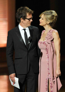 Kevin Bacon and Kyra Sedgwick present the Outstanding Supporting Actress in a Miniseries or Movie award at the 61st Primetime Emmy Awards