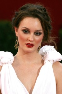 Leighton Meester arrives at the 61st Primetime Emmy Awards held at the Nokia Theatre on September 20th 2009 in Los Angeles